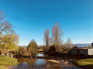 rivière paysage bordères